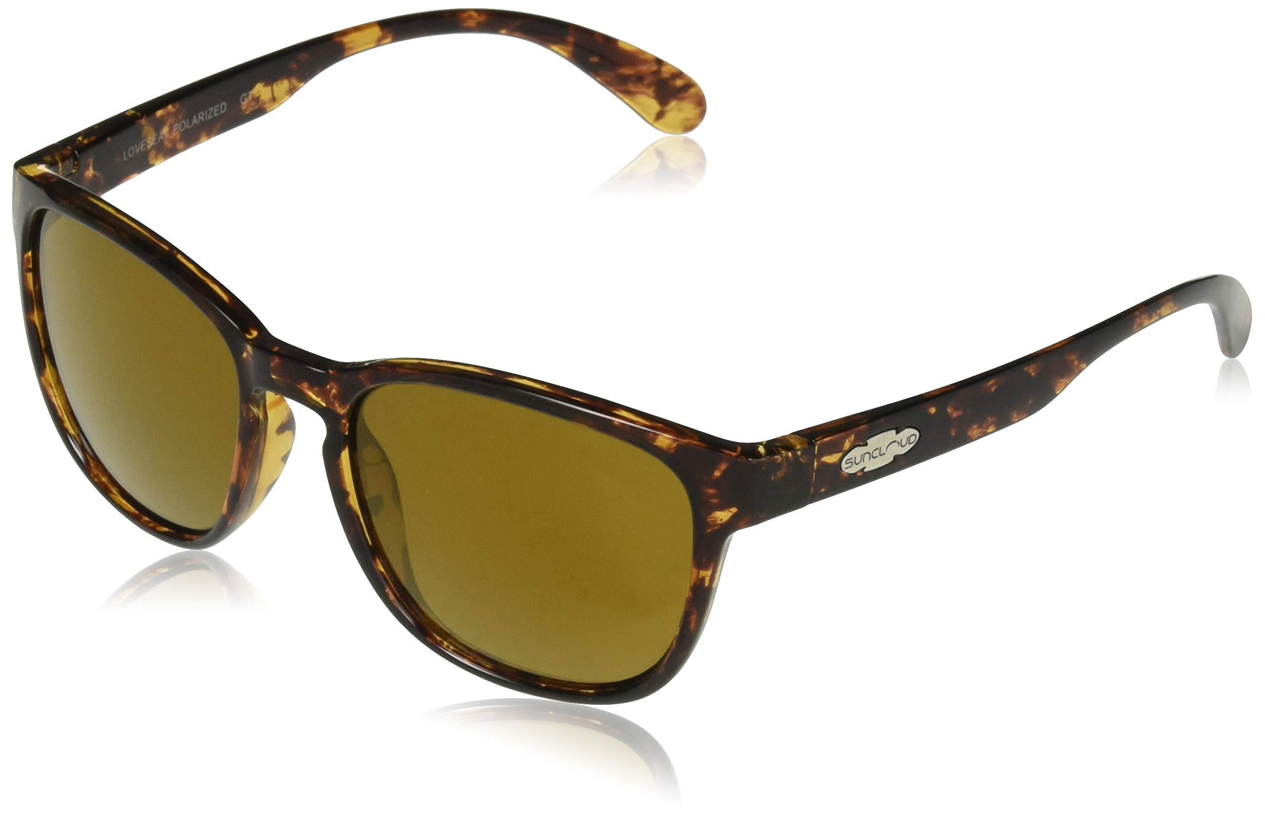Suncloud Loveseat Polarized Sunglasses, Tortoise Frame, Sienna Lens