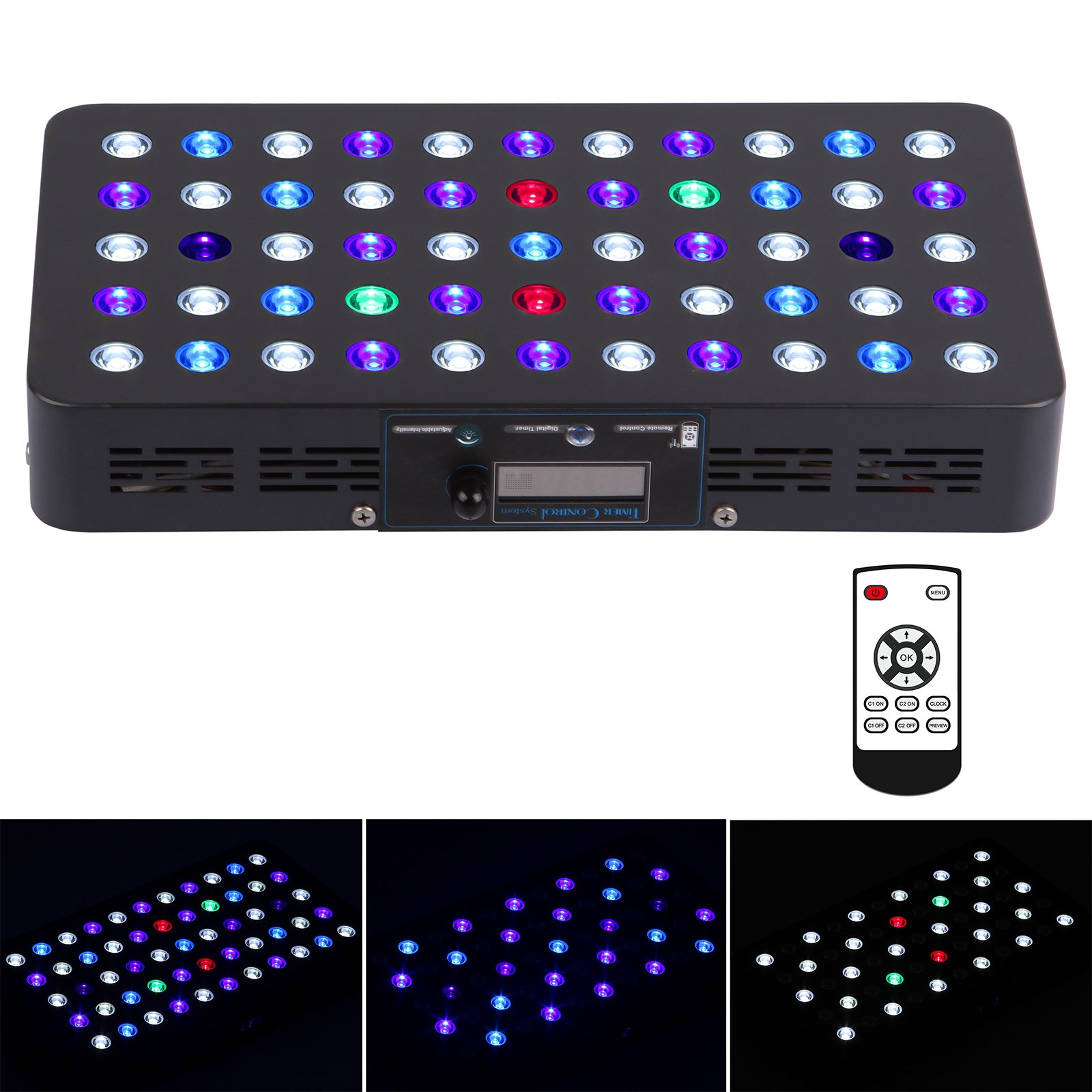 BLOOMSPECT 165W LED Aquarium Light Timer Control Full Spectrum CoralReef SPS/LPS