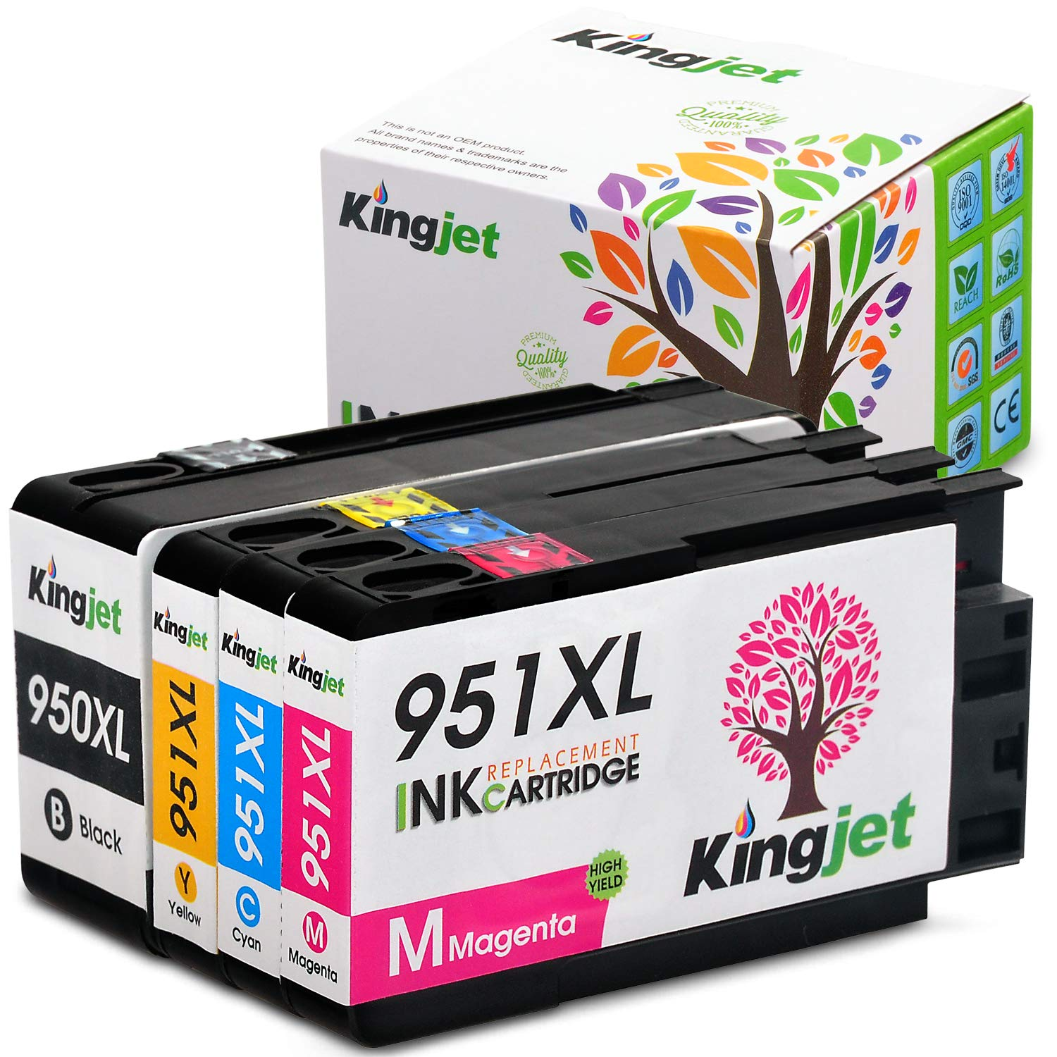 Cartucho Alternativo Hp 950xl 951xl 4 Un. Kingjet
