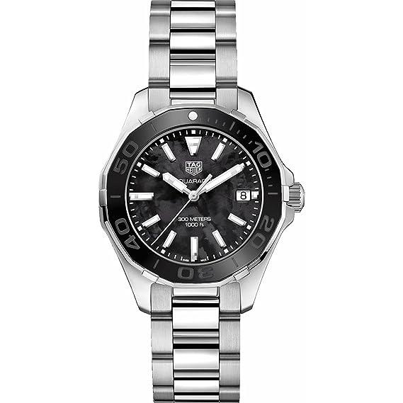 TAG Heuer Aquaracer Negro Madre de Perla 35 mm para mujer reloj way131 K. ba0748