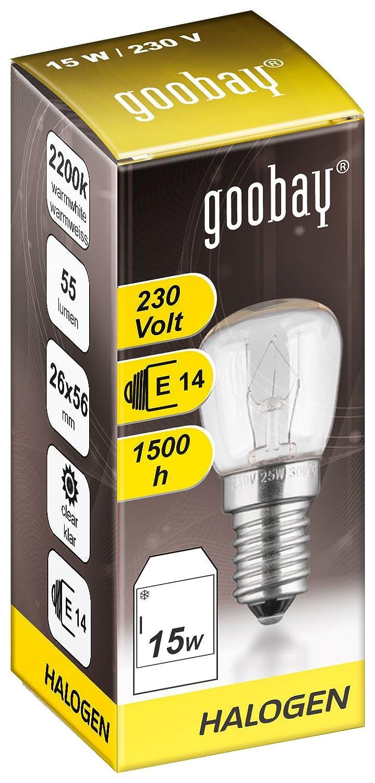 5er Set Kühlschrankbirne E14 Speziallampe für Haushaltsgeräte 230V klar 15W
