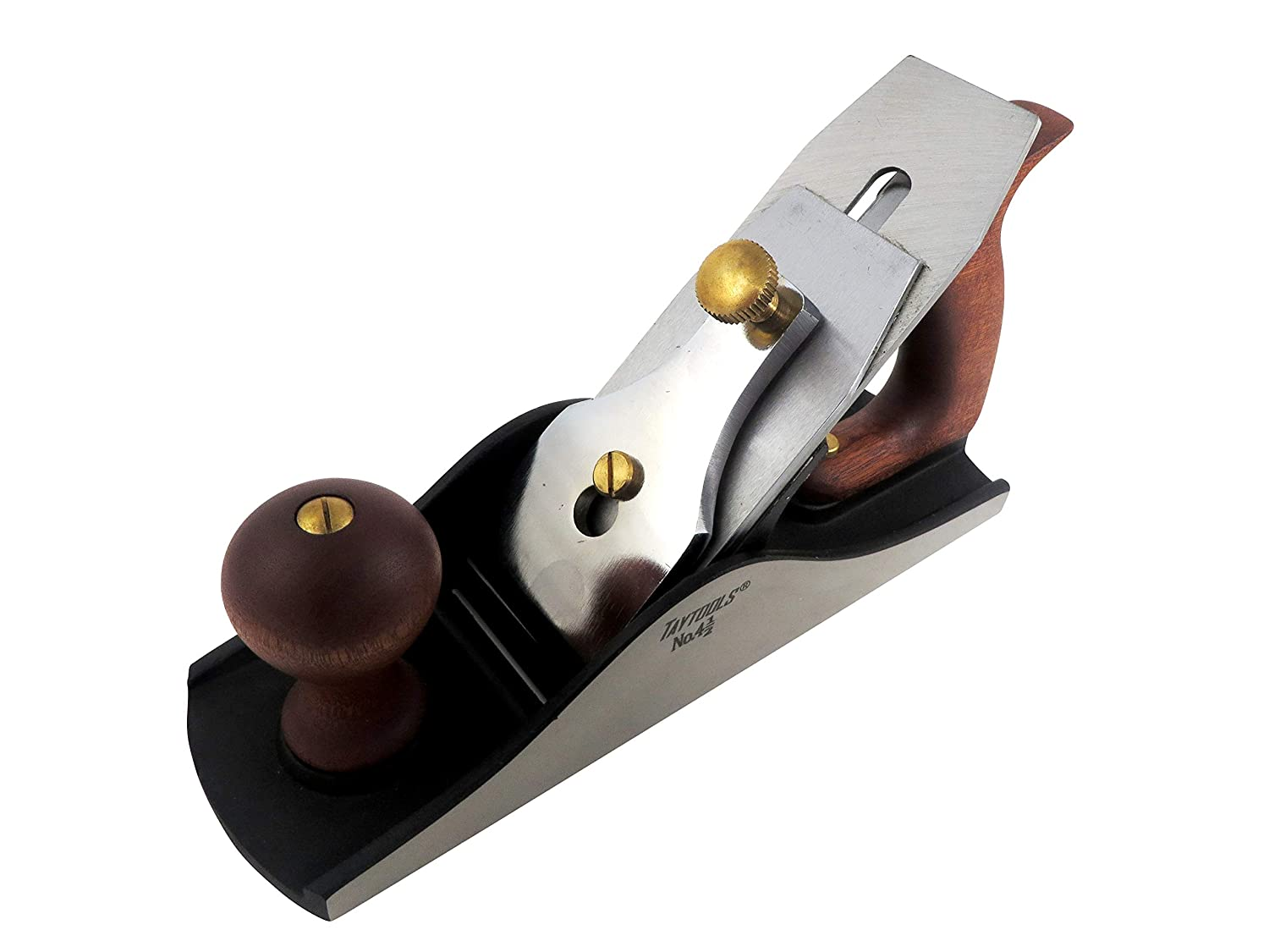 Blade RHC 55-60 10-1//4 Inch Sole Taytools 465951 Smoothing Bench Hand Plane #4-1//2 Lapped Sides and Bottom Ductile Cast Body Sapele Handle and Tote
