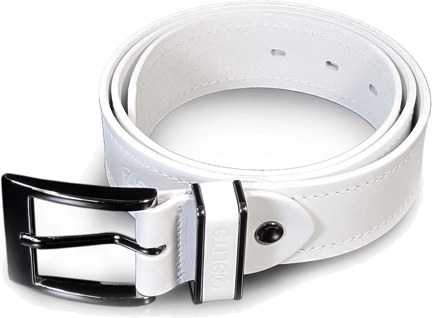 CM6 Mens Real Genuine Leather White Belt 1.5 Wide S-XL Thick Long Casual Jeans