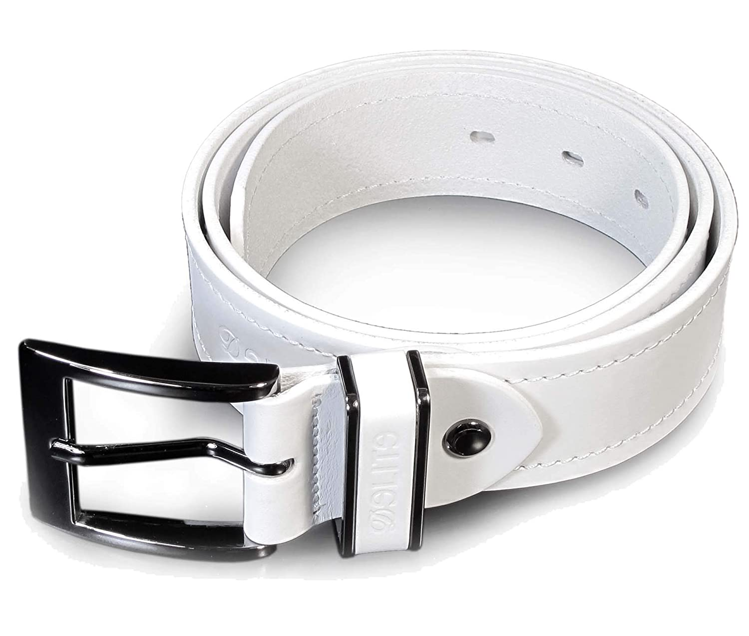 CM0 Mens Real Genuine Leather White Belt 1.5 Wide S-XL Thick Long Casual Jeans