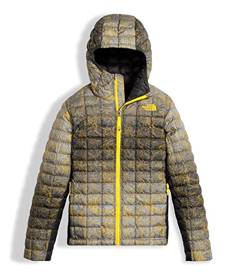 df61c72f0 Amazon.com: The North Face Boy's Thermoball Hoodie - Canary Yellow ...