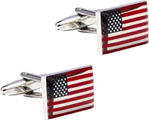 Wedding Gifts with Gift Box Knighthood American Flag Cufflinks Shirt Cuff Links Business