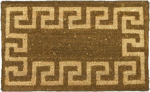 Rubber-Cal Sparta Outdoor Coir Decorative House Doormat, 18 x 30-Inch