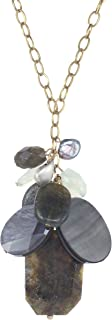 product image for a. v. max Long Chain with Semiprecious Cluster Necklace