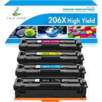 TRUE IMAGE Compatible Toner Cartridge Replacement for HP 206X 206A W2110A W2110X HP Color Laserjet Pro M255dw MFP…