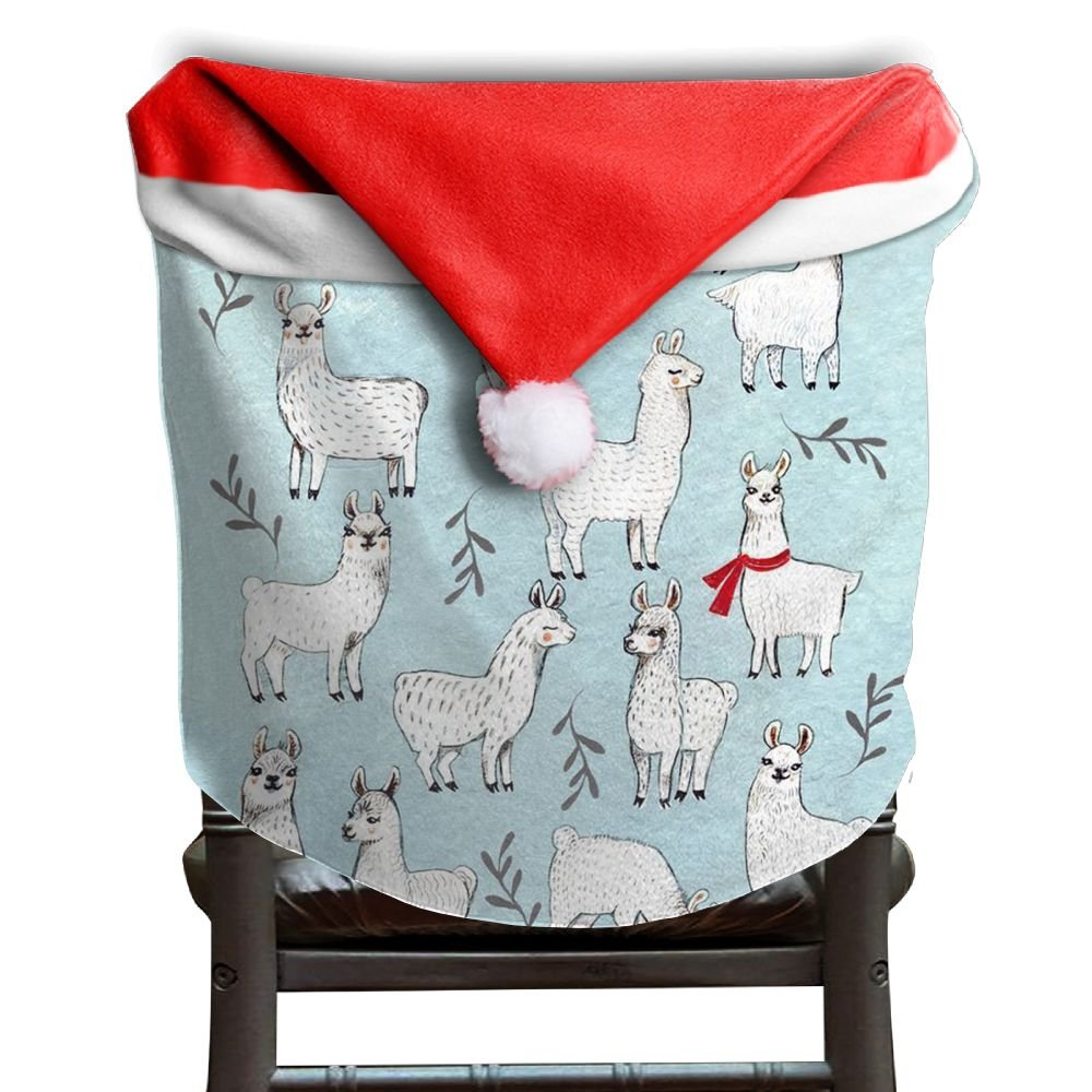 Llama Animal Christmas Chair Covers Modern Design Smooth Chair Covers For Christmas For Family Christmas Chair Back Covers Holiday Festive