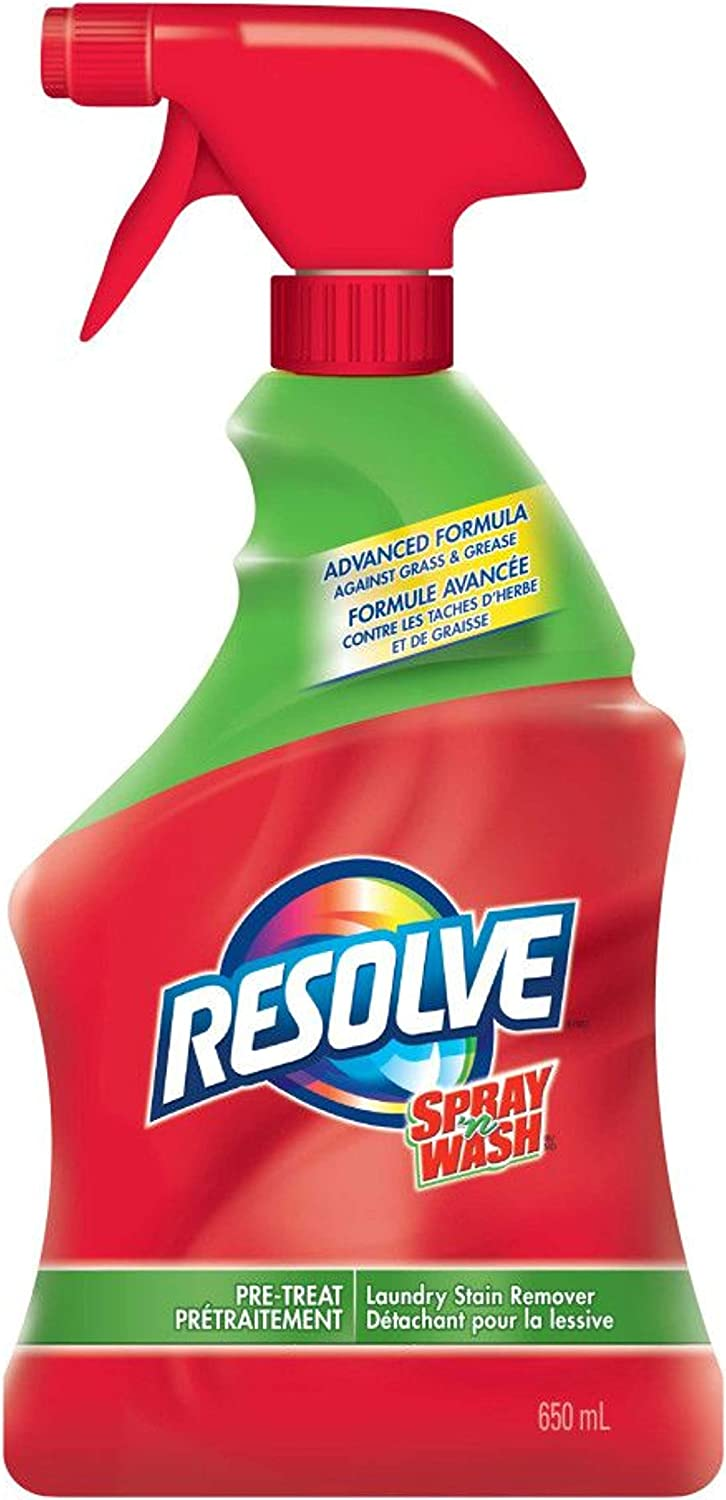 Resolve Spray 'n Wash Pre-Treat Laundry Stain Remover Trigger Spray - 22 Fl Oz / 650 mL x 2 Pack: Health & Personal Care