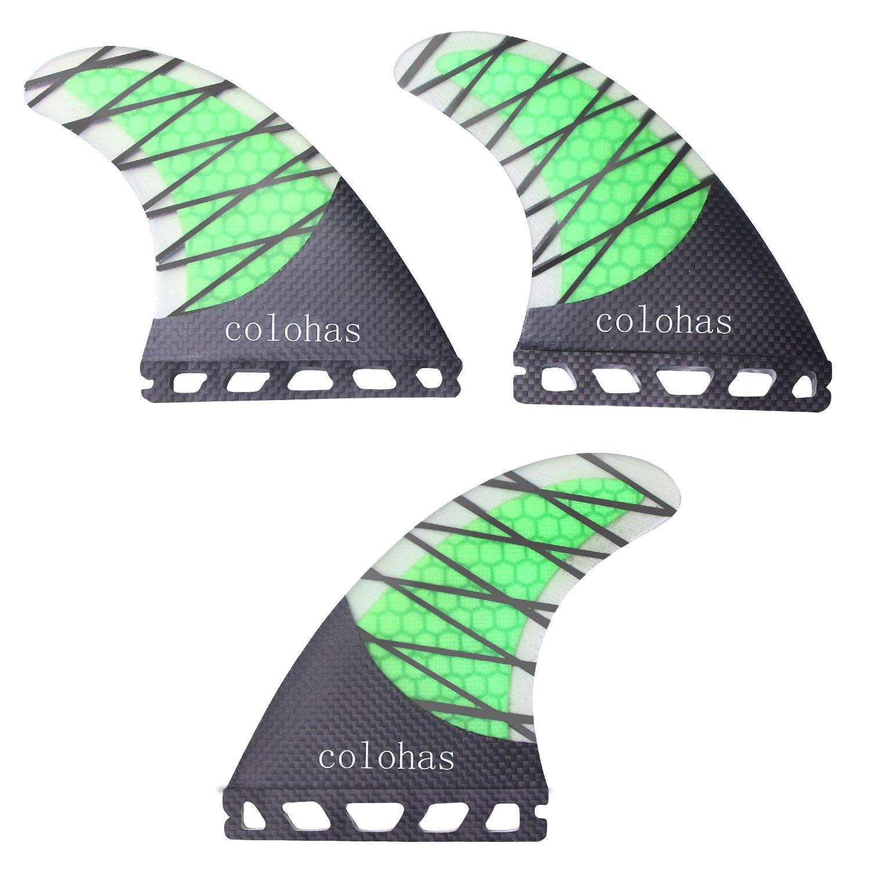 Colohas Future Fins Thruster Set Honeycomb Carbon Medium