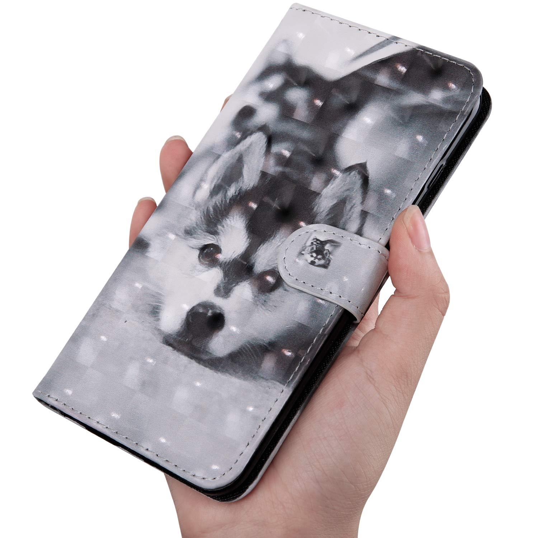 3D Gemalt Kompatibel Mit Samsung Galaxy A7 2018 Handyh/ülle Klapph/ülle Kartenf/ächer Leder Flip Wallet Case-Schwarze Blume Schutzh/ülle Brieftasche h/ülle Samsung Galaxy A7 2018 Huphant A750 A750