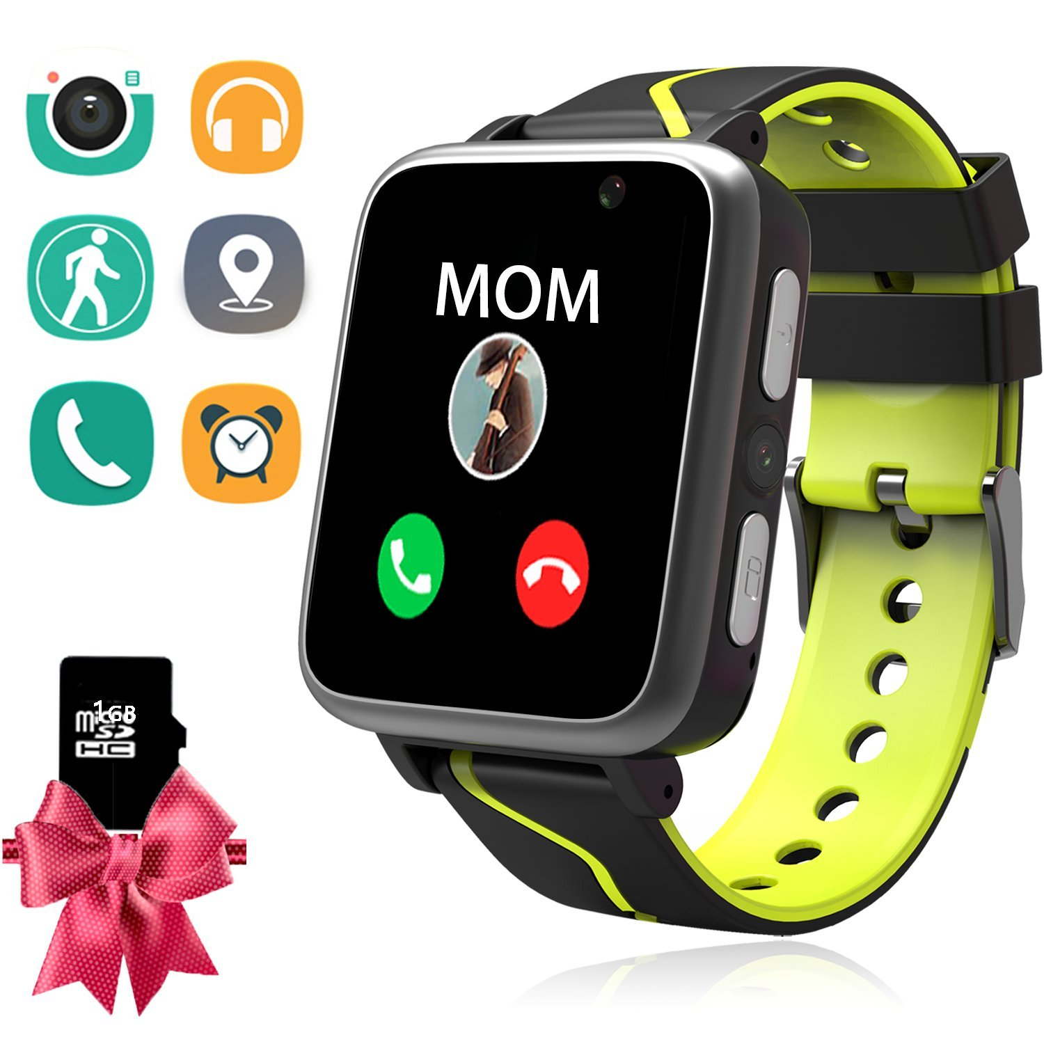 Kids Music Watch - Children Smart Watch with MP3 Music Player [1GB Micro SD Included] FM Pedometer Camera FM SOS Alarm Clock Flashlight for Boys Girls Back to School Students Gifts (Black)