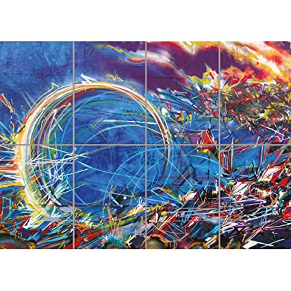 Doppelganger33ltd Grafitti Street Art Colourful Swirl Mural Abstract Giant Art Print Poster Oz1964