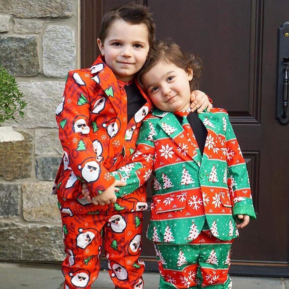 Borlai 3 Piezas Traje de Navidad para niños Chaqueta + Pantalones ...