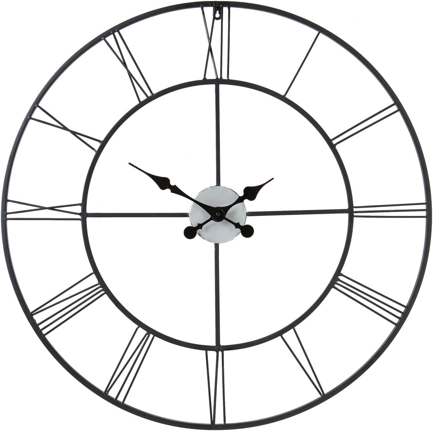 Sei Furniture Wall Clock Metallic Home Kitchen