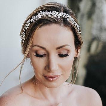 Kercisbeauty Hochzeit Braut Brautjungfern Blume Strass Perlen Sommer