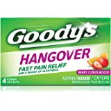 Goody's Hangover Powders, Fast Pain Relief & Boost of Alertness, 4 Stick Powders