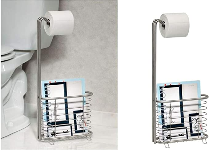 Metal Bathroom Magazine Holder InterDesign Axis Toilet Paper Holder with Magazine Rack Bronze