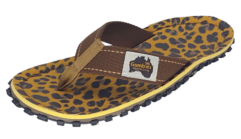 Gumbies Damen Zehentrenner - Rosa/Blau Schuhe in Uuml;bergrouml;szlig;en  37 EU Leopard