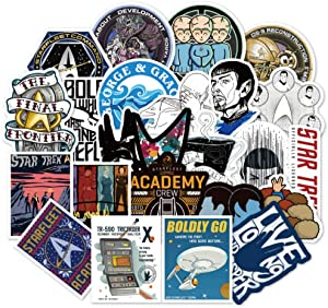 TV Show Star Trek Themed 36 Piece Sticker Decal Set for Kids Adults - Laptop Motorcycle Skateboard Decals
