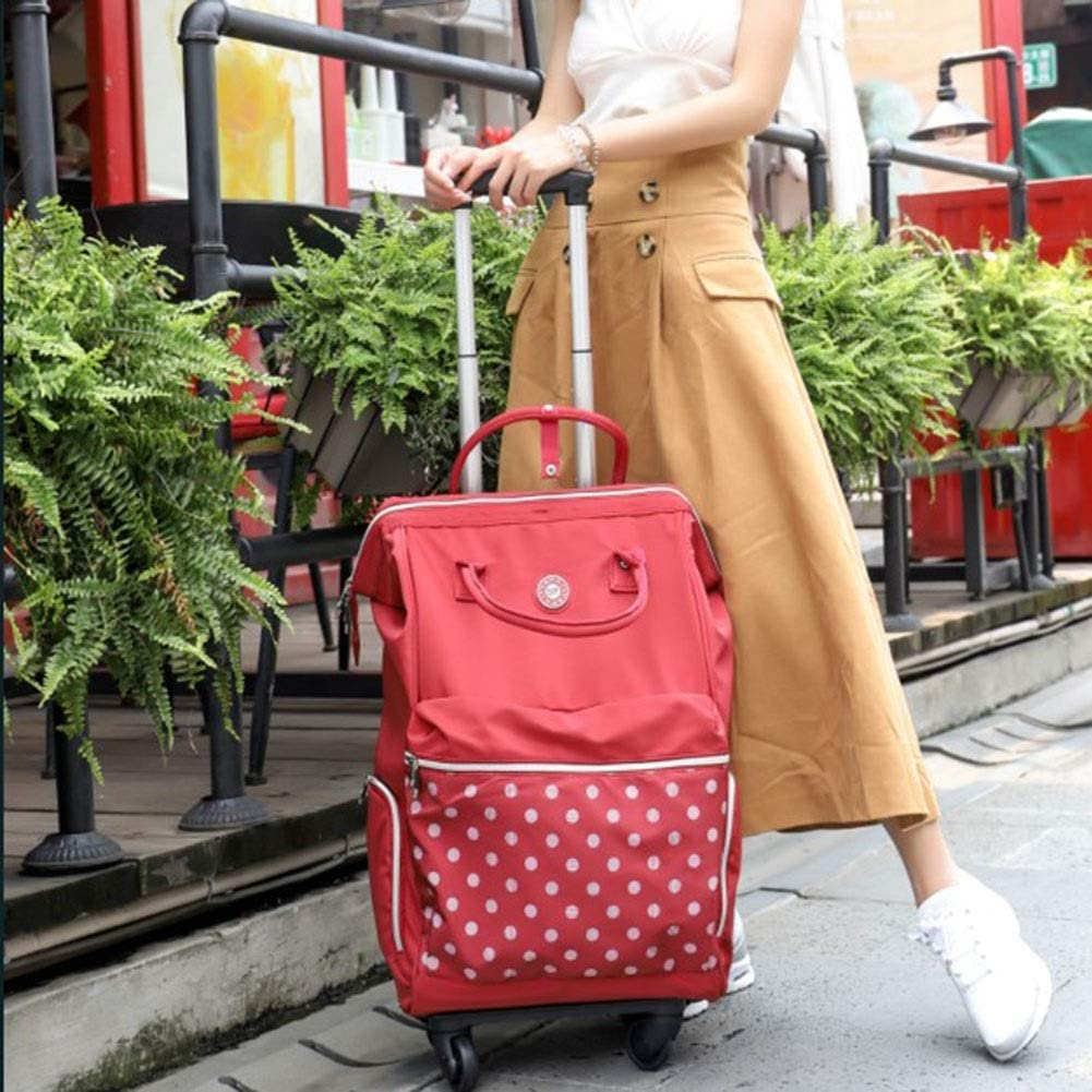 Color : Red, Size : 372162 Travel Bags Trolley Case Universal Wheel Detachable Boarding Luggage Suitcases Carry On Hand Luggage Durable Hold Tingting