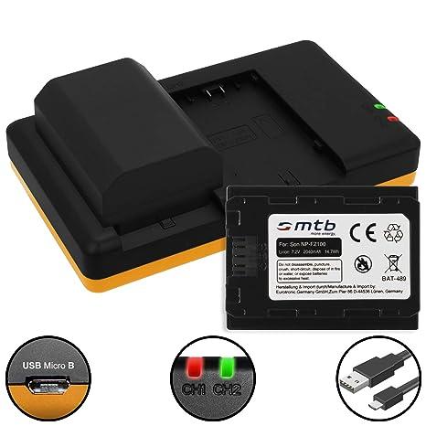 2X Batería + Cargador Doble (USB) Compatible con NP-FZ100 ...