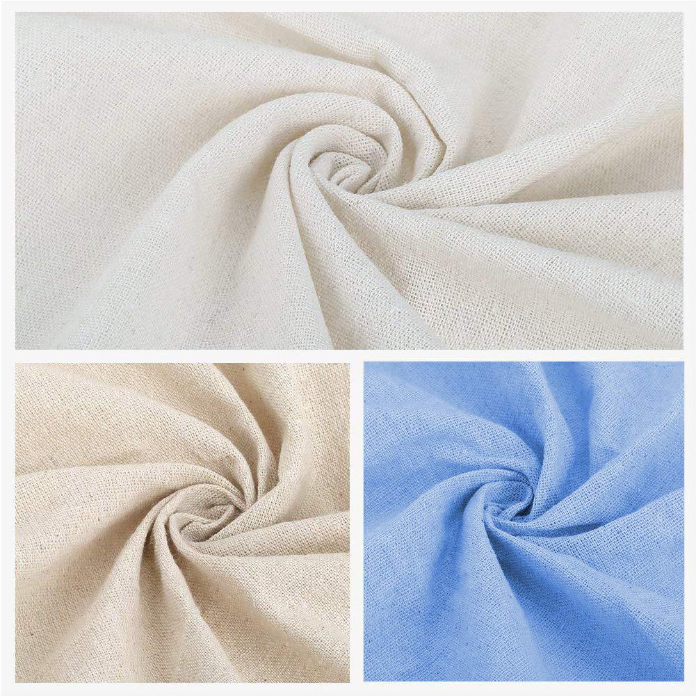 6A Aida Cloth Cross Stitch Cloth 4Pcs White Natural Linen Needlework Fabric Cross Stitch Cloth 20 Inch Embroidery Linen Fabric for Making Garment Craft Needle Embroidery Decoration and Tablecloth