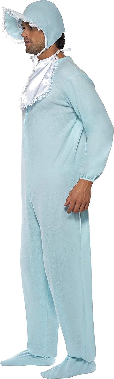 Smiffys-28602 Disfraz de bebé varón con Pelele, con Gorro, Color Azul, Tamaño único (Smiffy'S 28602)