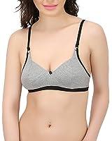 STATUS Women's Non-Wired Bra (Grey)