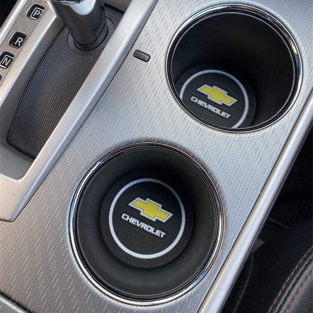 Tracker etc All Models Orlando Blazer fit for Malibu Onix Upgraded 2 Pcs 2.75 inch Car Interior Accessories Anti Slip Cup Holder Mat Insert coaster for Chevrolet Equinox Trailblazer Monza