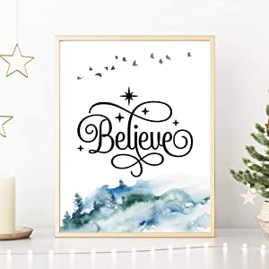 """Liuqidong Happy Holidays Canvas Posters Picture Merry Christmas Party Decoration Nordic Wall Decor Art Painting Prints 27.5""""x35.4""""(70x90cm) Frameless"""