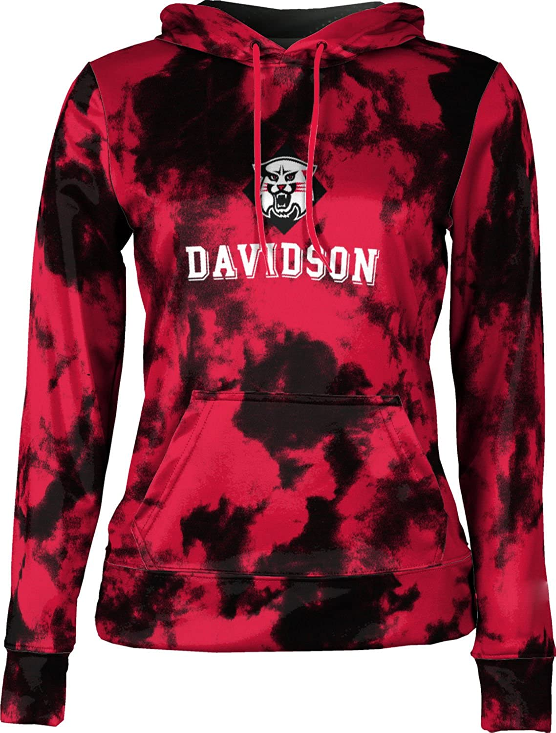 ProSphere Davidson College Girls Zipper Hoodie School Spirit Sweatshirt Grunge