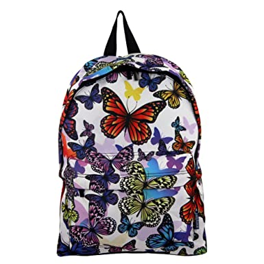 Camouflage Butterfly Student Bookbag Backpack | School Book Bag | for Boys and Girls