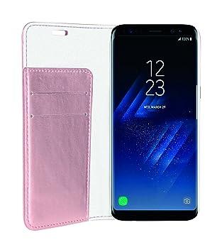 Phonix SS8BCO - Carcasa Estilo Libro Brillante para Samsung Galaxy S8, Rosado