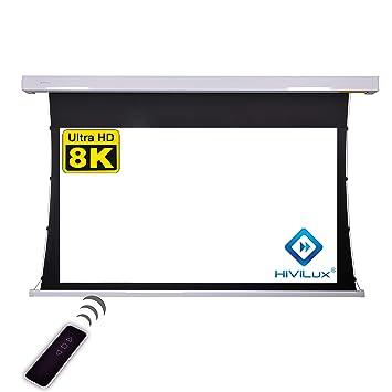 HiViLux TXN – Pantalla de proyector motorizada, ganancia 1,0 ...