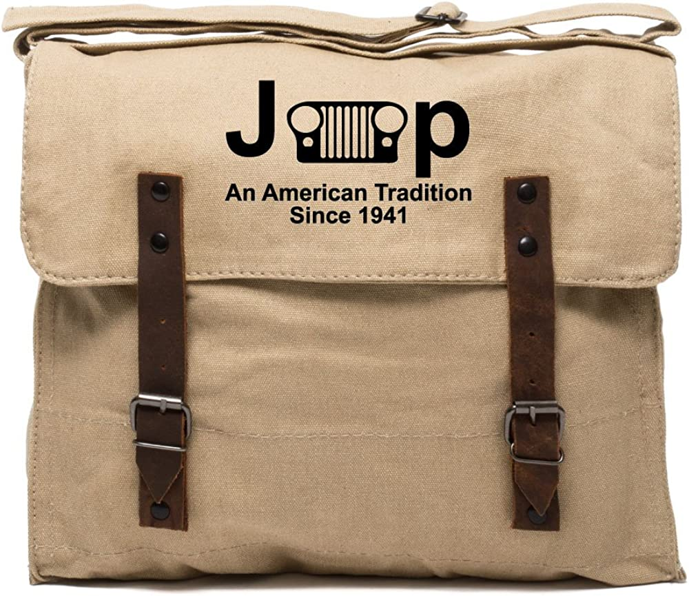 Jeep An American Tradition Army Heavyweight Canvas Medic Shoulder Bag