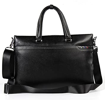 21c4a1dcfdc39 JUNBOSI Leder Herren Tasche - Luxus Einfache Herren Handtasche - Leder  Groß-Cap Business Aktentasche
