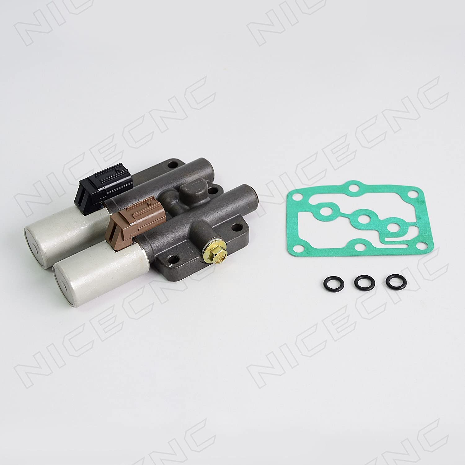 NICECNC Dual Linear Solenoid Replace Accord 4 Cyl 6 Cyl 1998-2002//2007 Odyssey Pilot 2003-2007 Prelude 1997-2001 Acura 2.3//3.0 CL 1998-1999 MDX 2001-2002 3.2 CL//TL