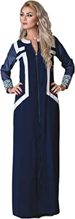 Lady Vogue Blue Casual Abaya For Women