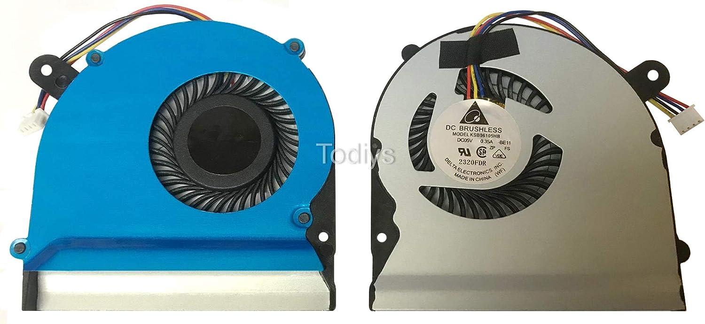 Todiys CPU Fan for Asus F402 F402C F402CA F502 F502C F502CA X402 X402C X402CA X502 X502C X502CA S300 S300C S300CA S300K S300Ki S300SC S400 S400C S400E S400CA S500 S500C S500CA Series KSB06105HB-A110