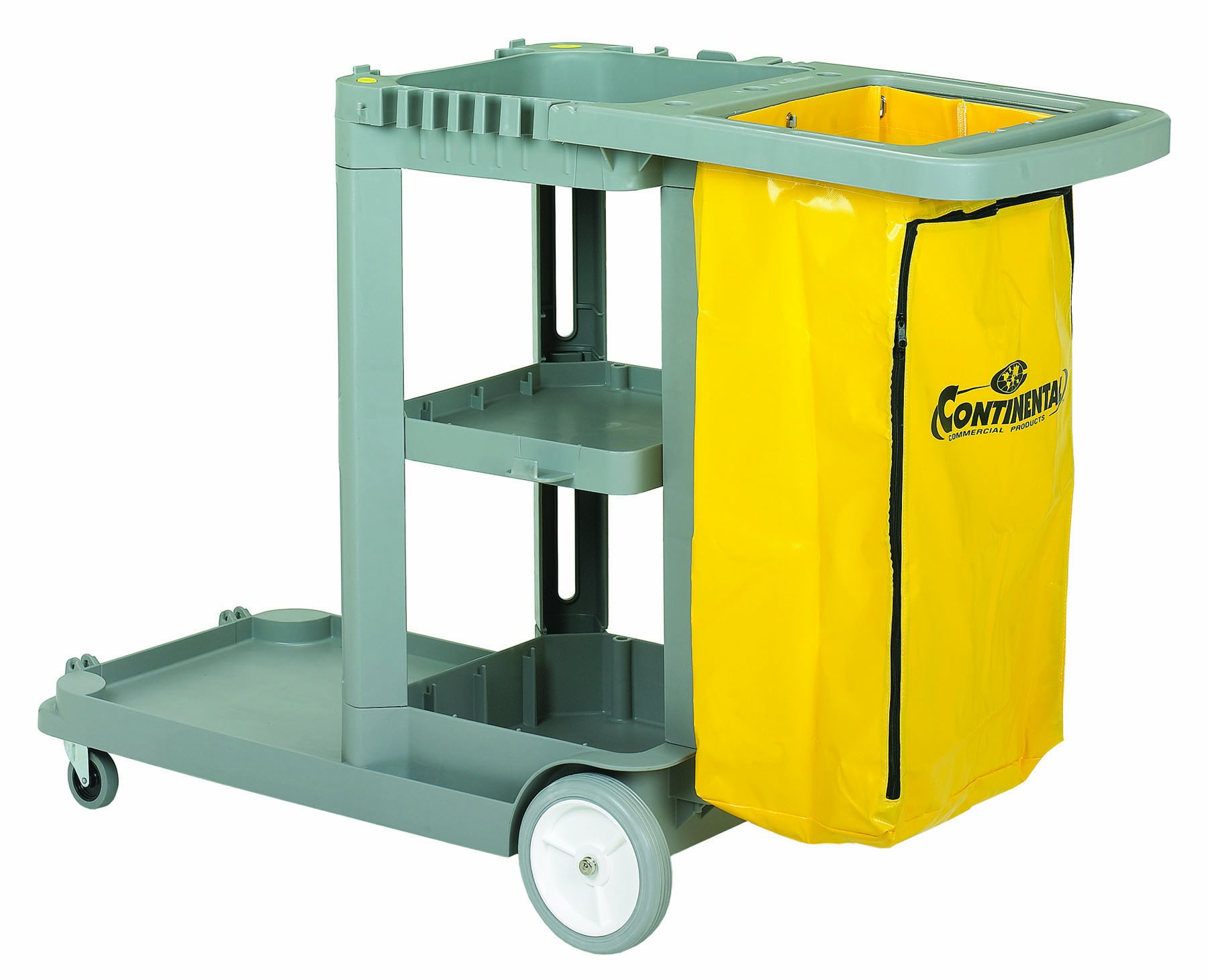 Continental 184GY, Grey Standard Janitorial Cart (Case of 1) by Continental