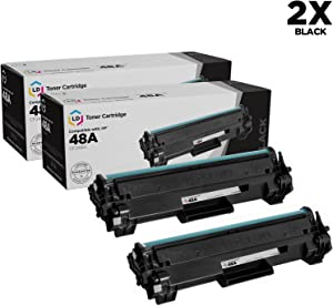 LD Compatible Toner Cartridge Replacement for HP 48A CF248A (Black, 2-Pack)
