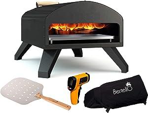 Bertello Outdoor Pizza Oven + Pizza Peel + Weatherproof Cover + Therm - Combo
