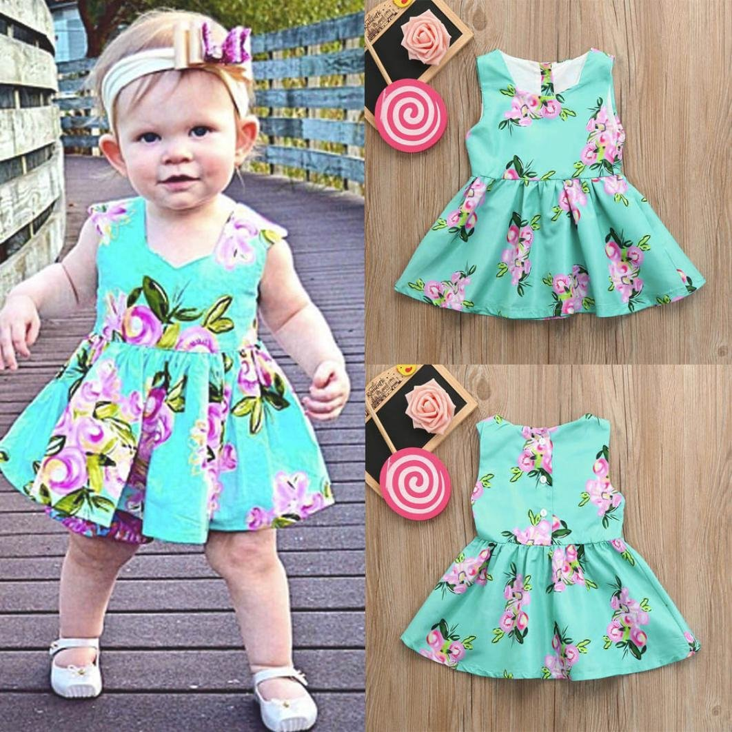d95972e7121 Amazon.com  Franterd Mommy   Me Floral Sundress Parent-Child Slim Splice  Above Knee Boho Beach Sea Party Dress Family Clothes Sundress  Clothing