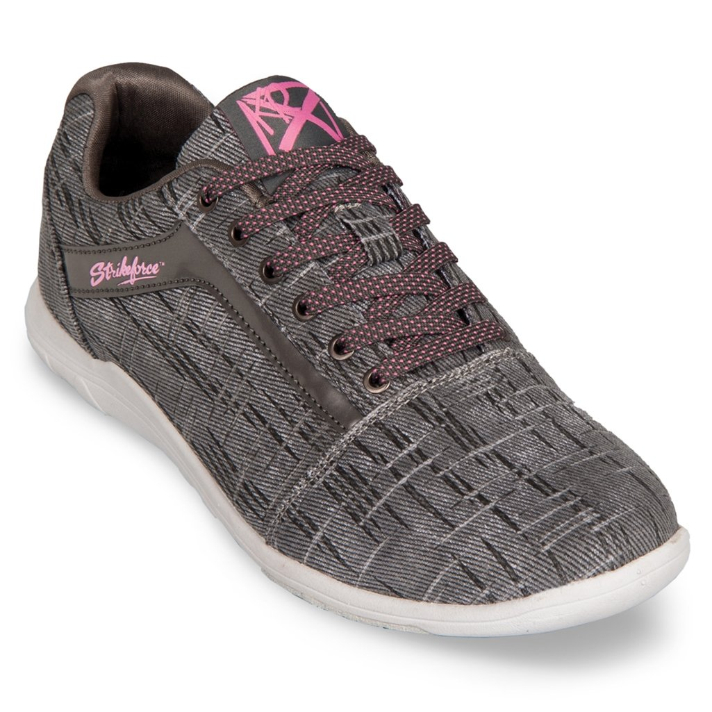 KR Strikeforce Womens Nova Lite Bowling Shoes- Ash/Hot Pink (10 M US, Ash/Hot Pink) by KR