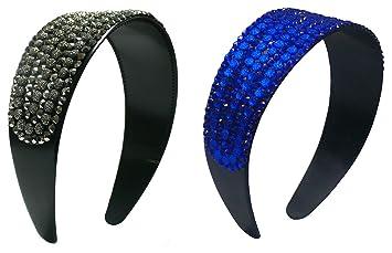 "3 Count Hair Bands NI86012-24611-3 Set of 3 2/"" Wide Band Bling Bling Headbands"
