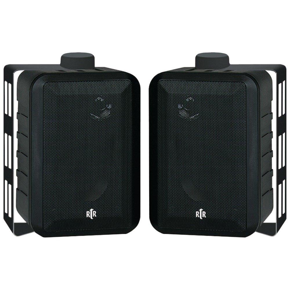 BIC AMERICA RTRV44-2 RtR Series 3-Way Indoor/Outdoor Speakers (Black) by Generic