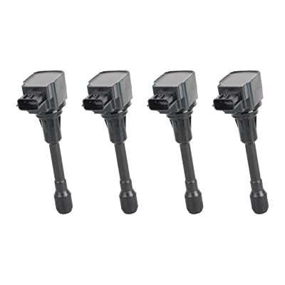 Ignition Coil Pack Set of 4 - Fits 2007-2020 Nissan Altima 2.5L, Sentra, Rogue, Cube, Versa, Infiniti QX60 Hybrid, FX50, M56 - Replaces 22448JA00C, IGC0002, C1696, 22448ED000, 22448JA00A, UF549: Automotive